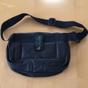 EUC black leather Stealth Pac Waist/ Fanny packbag